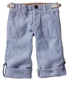 Chambray roll pants from Gap